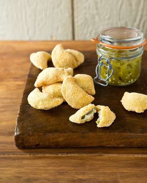 Jalapeno Popper Pierogies - These Spicy Hybrid Appetizers Combine Two Popular Bar Foods into One