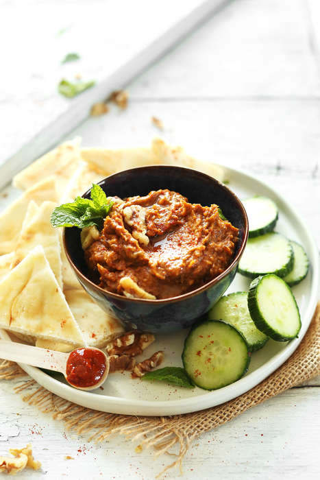 Piquant Eggplant Dips - This Healthy Veggie Dip Features Smoky Harissa Spice