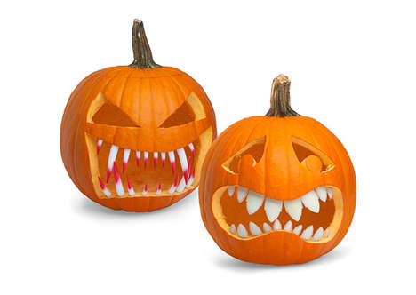 Ferocious Squash Accessories - These Halloween Pumpkin Teeth Make Your Jack-o-Lantern Extra Creepy
