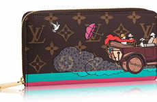 Retro Animated Wallets - The Louis Vuitton Christmas Animation Wallets Feature 1920s Graphics