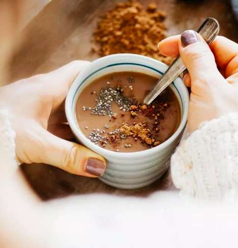 Superfood Hot Chocolates - This Healthy Hot Chocolate Balances Hormones with Chia Seeds and Matcha