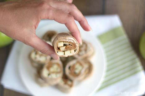 No-Bake Apple Pinwheels - These Apple Pie Cheesecake Desserts Take Seconds to Prepare