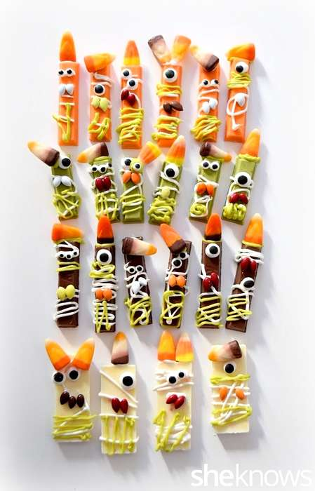 Monstrous Candy Creations - These Mini Ghouls are Made Using Icing, Kit-Kat Bars and Candy Toppings
