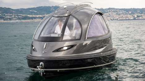 Pod-Shaped Yachts - The 2016 Jet Capsule Features a Number of Passenger-Friendly Upgrades