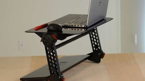 Adjustable Desk Add-Ons - The Torax Can Be Added Onto Regular Desks and Tables
