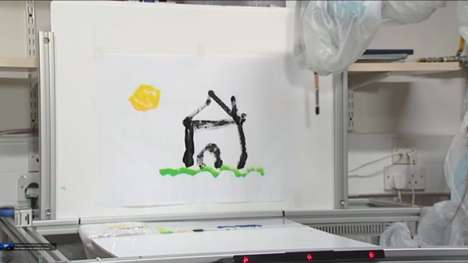 Canvas-Painting Robots - This Painting Robot Can Create Works of Art