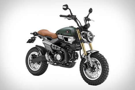 Retro Stunt Bikes - This Honda Grom Scrambler Concept Will Provide Maximum Performance