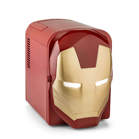 Superhero Dorm Accessories - The Iron Man Mini Fridge is Ideal for Comic Fans Away at College