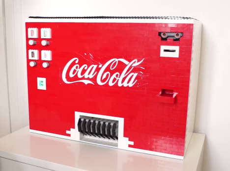 Building Block Vending Machines - This LEGO Coca-Cola Machine Works Just Like the Real Thing