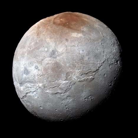 Red-Tinged Moon Photos - These Photos of Charon Shed New Light on Pluto's Moon