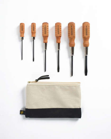 Luxury Wooden Tools - The Hand-Eye Supply Screwdriver Set is Beautifully Crafted and Ready to Use