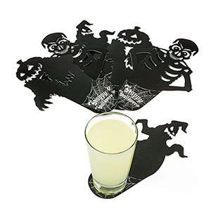 Spooky Shadow Coasters - This Ghoulish Cup Coaster Designs are Ideal for a Festive Party
