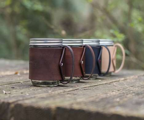 Mason Jar Travel Mugs - The Traveler Mug by Go Forth Goods Makes Use of a Vessel You Already Own