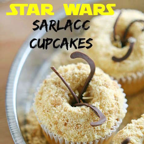 Gruesome Monster Desserts - This Star Wars Sarlacc Cupcake is Dangerously Delicious