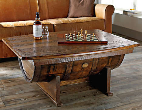 Cask Coffee Tables - This Whiskey Barrel Coffee Table is Ideal for the Liquor-Loving Gentleman