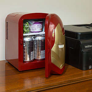 Superhero Mini Fridges - This Iron Man Food Cooler is an Ideal Place to Store Drinks in Your Room