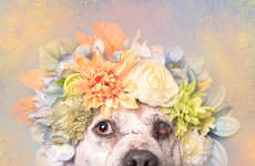 Floral Pit Bull Photography