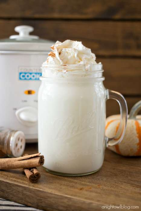 Crockpot Hot Chocolates - This White Hot Chocolate Features Festive Pumpkin Spices