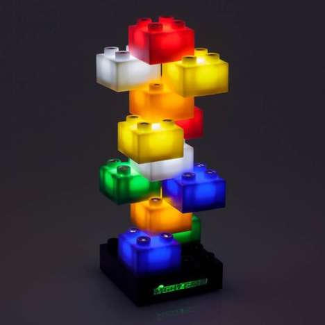Illuminated Building Blocks - Light Stax Electric Light Blocks Provide a Playful Look and Feel