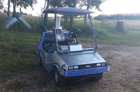 Cinematic Golf Carts - This Back to the Future DeLorean Golf Cart is Ready to Rock on the Green