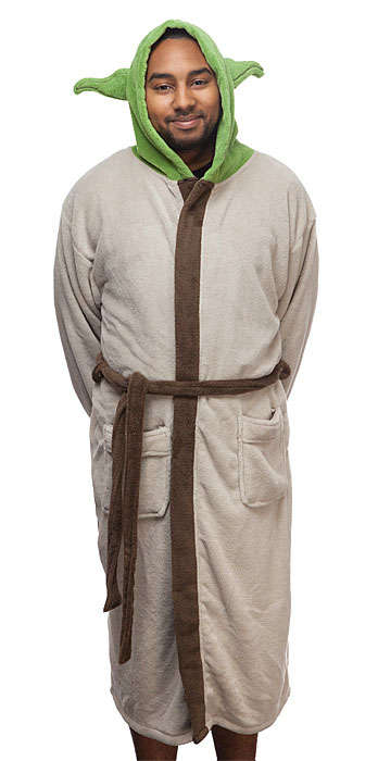 Sci-Fi Teacher Robes - This Yoda Fleece Robe Pays Homage to the Wise Character