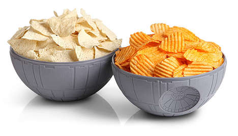 Spaceship Snack Servers - The Star Wars Death Star Chip and Dip Bowls Are Geeky Yet Useable