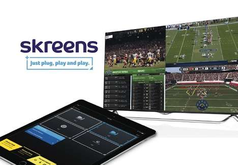 Screen-Splitting Devices - Skreens Allows You to Play Games While Watching TV on the Same Screen