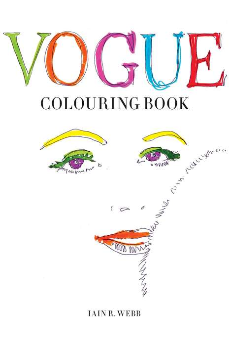 Haute Couture Coloring Books - This Book Features Hand-Drawn Fashion Sketches from the 1950s