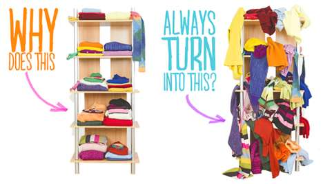 Closet Clothing Organizers - ThreadStax Allow You to Organize Piles of Clothing with One Simple Step