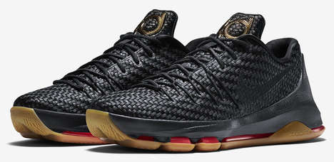 Metallic Woven Kicks - The Nike KD 8 EXT is a Revamped Edition with a Sleek Mesh Upper