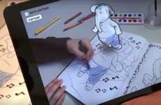 Augmented Reality Coloring Books - Disney's New App Will Make a Child's Artwork 3D