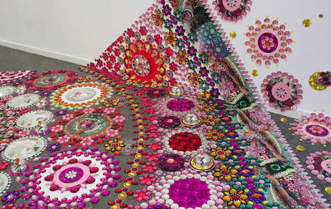 Climbing Kaleidoscope Installations - These 3D Kaleidoscope Designs Scale Walls and Include People