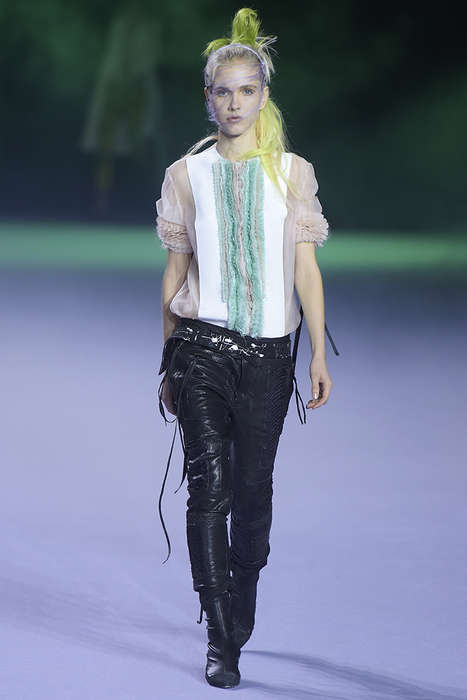 Pastel Punk Attire - The Haider Ackermann Spring Collection Features Hyper Color and Dark Looks