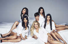 Candid Familial Covers - The Kardashian Clan Poses Together to Celebrate Cosmopolitan's Birthday