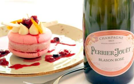 Breast Cancer Awareness Desserts - The Pink Dessert Campaign 2015 Combines Champagne and Desserts