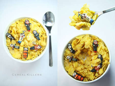 Macabre Wordplay Cereals - This Halloween Breakfast Bowl Cleverly Quips the Meaning of Serial Killer