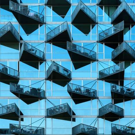Vivid Urban Photography - 'Temptations' is a Photo Series That Highlights Dizzying City Buildings