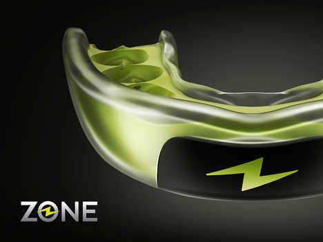 Self-Setting Sports Mouthguards - The ZONE Mouthguard Molds Itself to Teeth Without Boiling