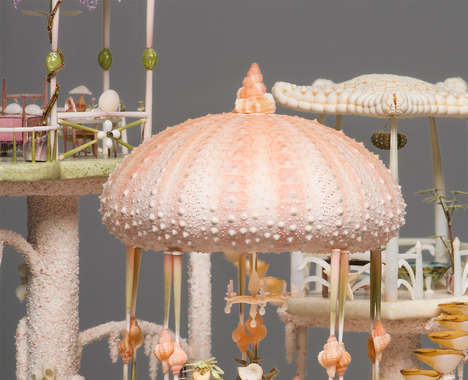 Delicate Seashell Dollhouses