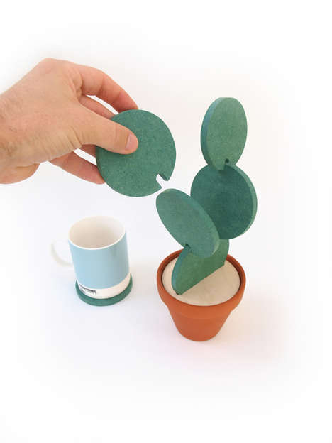 Customizable Cactus Coasters - This 'Cacti Coaster' by Clive Roddy Lets You Create Your Own Cactus