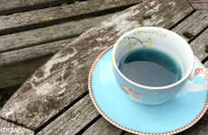 Floral Cobalt Teas - These Aromatic Herbal Brews Contain Blue Flowers that Dye the Drink