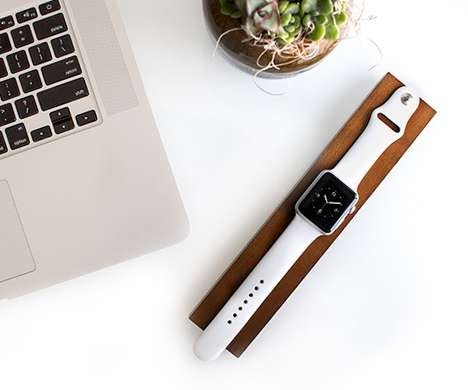 Wooden Smartwatch Docks - This Apple Watch Dock by OVA is Crafted From Rich Dark Maple Wood