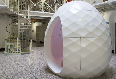 Prison Therapy Pods - These Enclosed Pods Make Therapy in Prison More Secluded and Successful