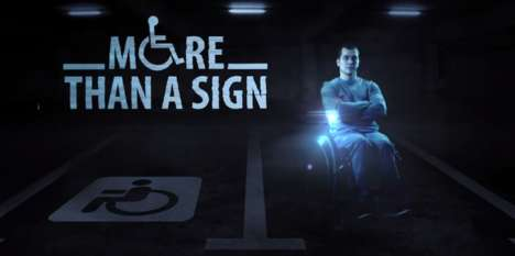 Empathetic Handicap Holograms - This Campaign Discourages People from Parking in Handicap Spaces