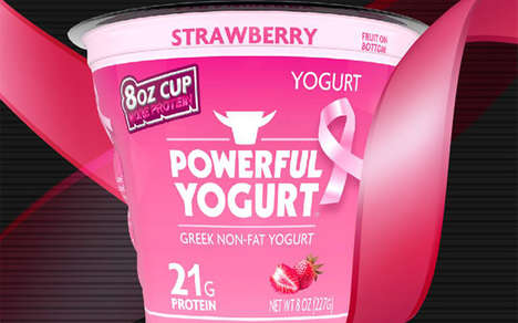 Cancer-Fighting Yogurts - This Strawberry Yogurt Honors Breast Cancer Awareness Month