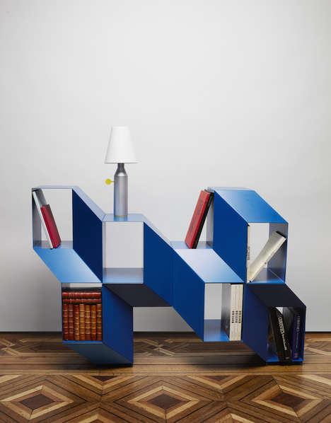 Optical Illusion Shelves - This Shelf by Charles Kalpakian Changes Depending on Your Own Perspective