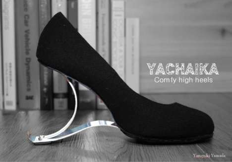 Spring-Supported High Heels - These Comfortable Heels Absorb Impact with Rubber Padded Springs