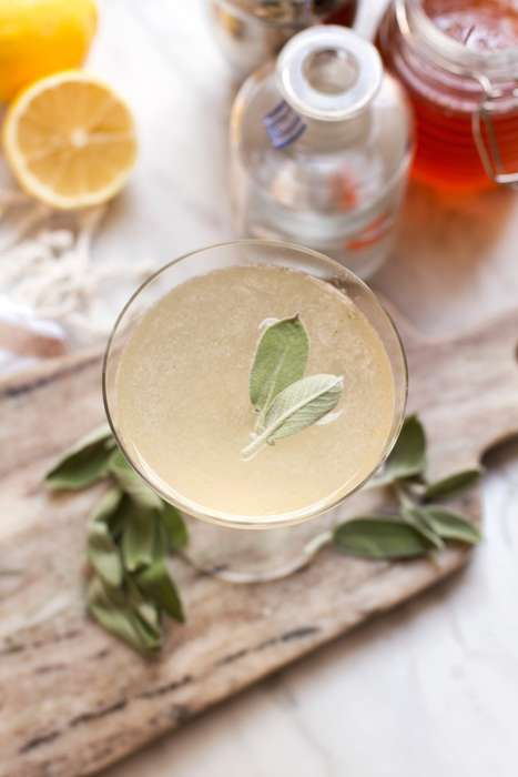 Herbal Honey Cocktails - This Delicious Drink is Infused with Aromatic Sage Leaves