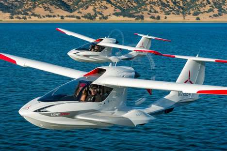 Amphibious Private Jets - This Personal Airplane Can Fold into a Trailer and is Spin-Resistant