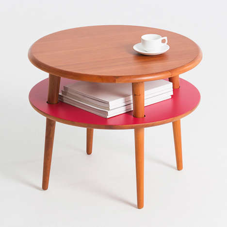 Hamburger-Mimicking Tables - The 'PLAYplay' Tables Stack Like Components of the Classic BBQ Dish